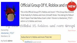 Join My Official YL Roblox and more Group!!