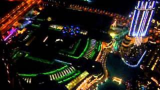 Visitors stage of the Burj Khalifa-Dubai by night