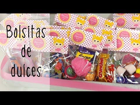 23dacd526 Bolsitas de dulces para fiestas infantiles - YouTube