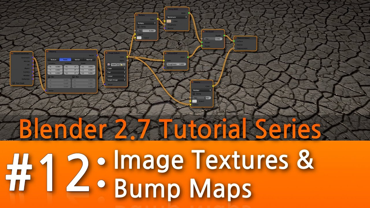 how to put a displacement map on a material blender