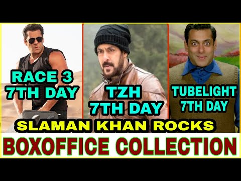 Boxoffice Collection Race 3,Tiger zinda hai,Tubelight,Salman khan last 3 movies Collection,Race 3