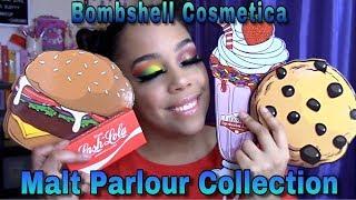 Bombshell Cosmetica Malt Parlour | Bomb Burger | Strawberry Milkshake | Fresh Baked Cookies | Review