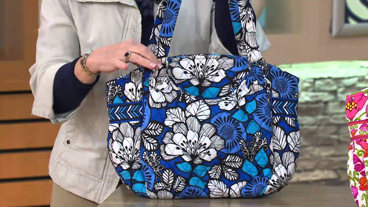 38985ea64 Vera Bradley Signature Print Glenna Tote with Jayne Brown by QVCtv