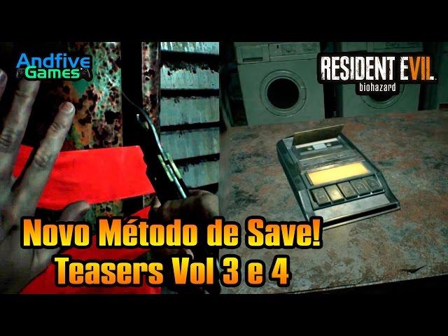 Resident Evil 7 Novo m�todo de Salvar revelado Teasers vol 3 e 4