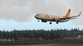X-Plane: Approach and Landing Salvador Airport Runway 10 / SBSV