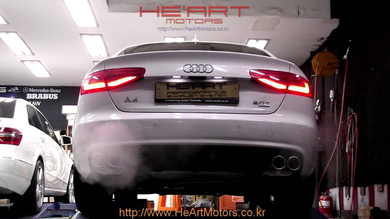 2013 audi a4 2 0tfsi he art dual exhaust system