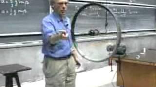 Wheel momentum Walter Lewin