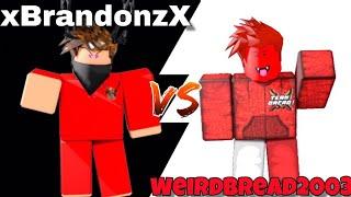 BRANDON VS WEIRDBREAD2003! *¿Quién ganará?! * (ROBLOX ASSASSIN ULTRAVIOLET CHRISTMAS KNIFE BET)