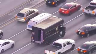 Police Pursuit of UPS Truck Ends in Hail of Gunfire After Armed Robbery - Dec 5, 2019 (Uncensored)