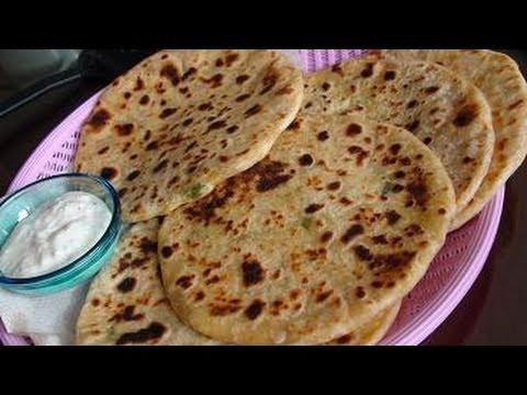 Aloo Gobi paratha Recipe Video (Flat bread stuffed with Potato and Cauliflower) Travel Video