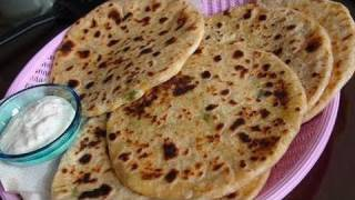 Aloo Gobi Paratha Recipe Video (flat Bread Stuffed With Potato And Cauliflower)