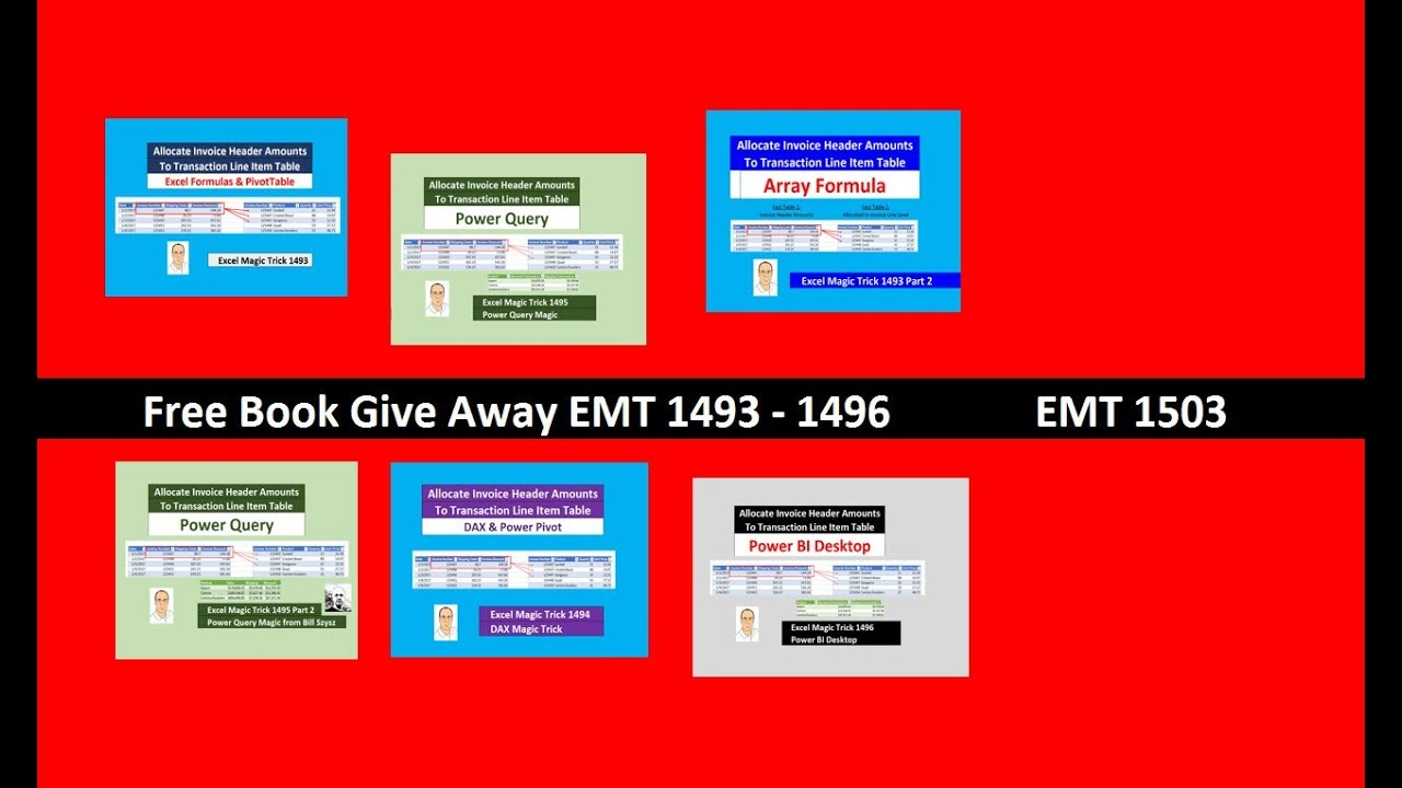 Excel Magic Trick 1503: Free Book Give Away EMT 1493 – 1496 RAND & VLOOKUP  Functions