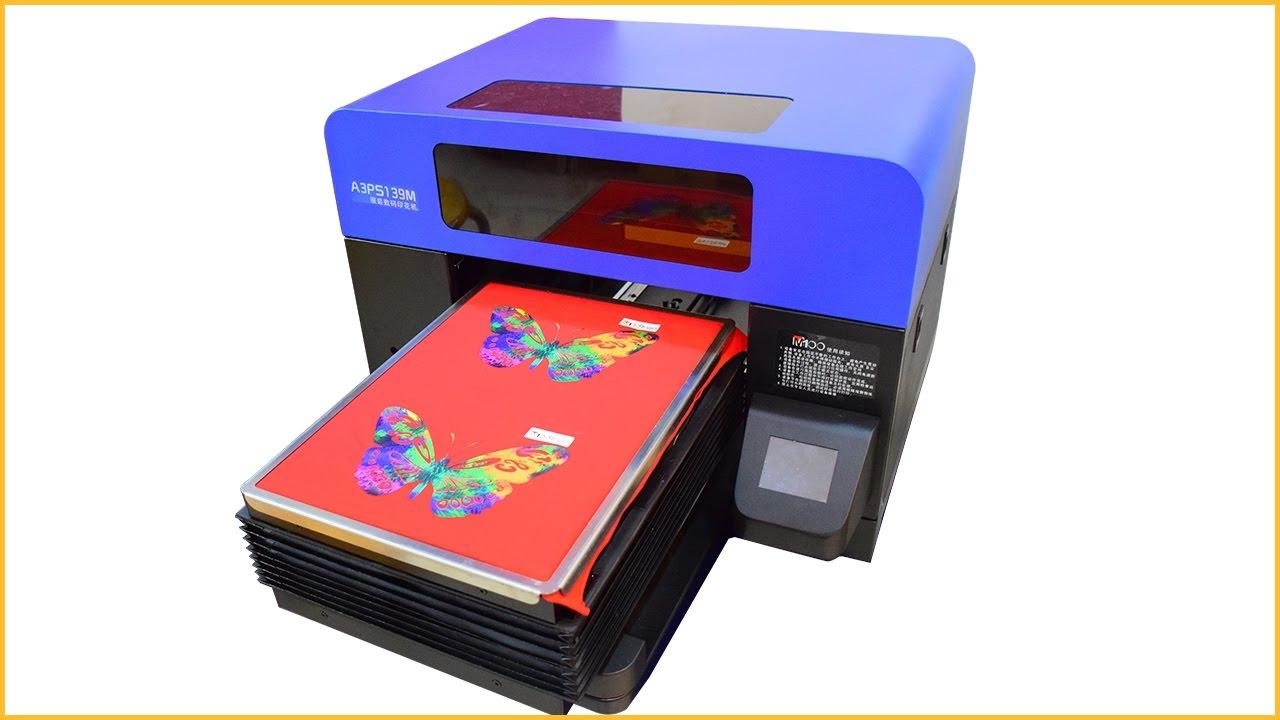 A3 digital flatbed printer digital flatbed t shirt printer t shirt printing  machine