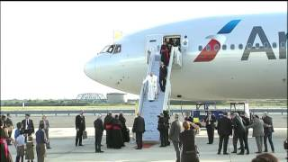 Pope Francis Arrives at JFK Airport