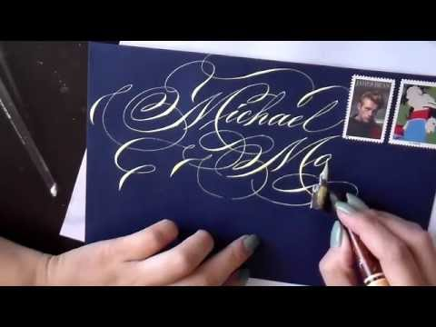 Writing a name in calligraphy