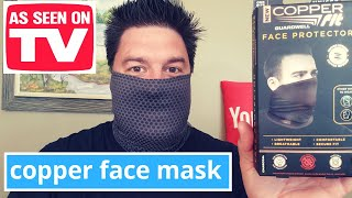 Copper fit face protector review: Copper Face Mask