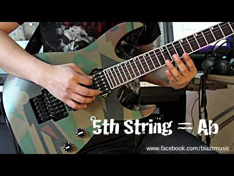 Half Step Down Guitar Tuner by WHIN [Eb-Ab-Db-Gb-Bb-Eb] or [D#-G#-C#-F#-A#-D#]