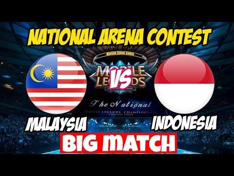 LIVE ARENA KONTES !! JANGAN KASIH KENDOR - INDONESIA VS MALAYSIA   Mobile Legends 17 Maret 2018