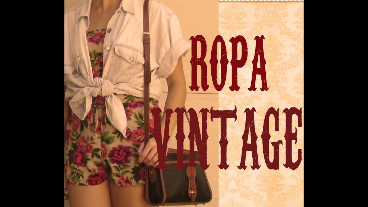 ropa estilo vintage