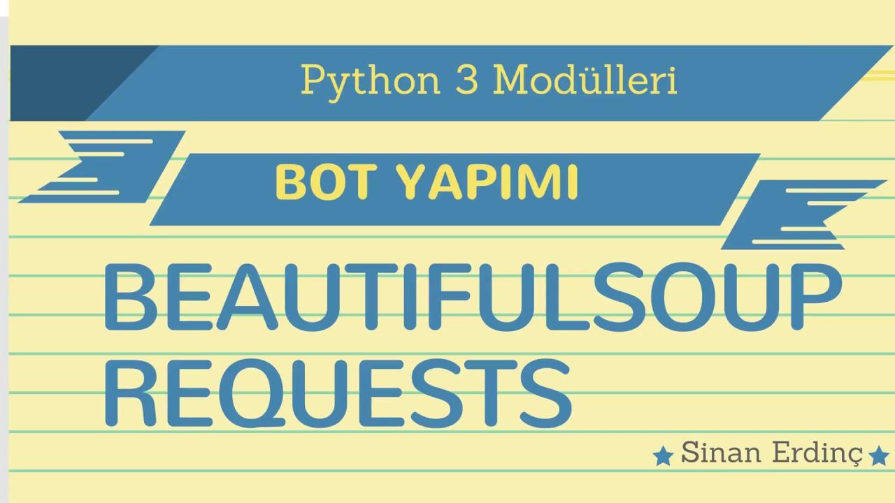 Python Beautifulsoup Module Usage Example 3 Youtube