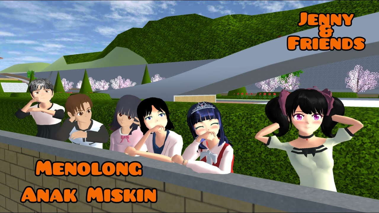 Menolong Anak Miskin Di Ganggu Yuta & Mio   Jenny & Friends   Drama Sakura School Simulator