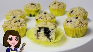 How To Make Blueberry Muffins: With Crumble Topping