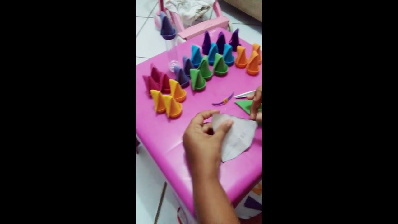 Gorro 7 anões em feltro para tubet - YouTube d57462ae8af