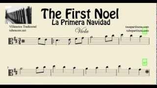 La Primera Navidad Partitura de Viola The First Noel