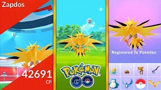 *FIRST EVER* LEGENDARY ZAPDOS CAUGHT IN POKEMON GO! NEW LEGENDARY POKEMON ZAPDOS!