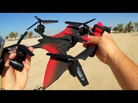 Pterosaur Flying Dinosaur FPV Drone FQ777 FQ19W YiLentury Flight Test Review