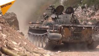 شاهد بالفيديو: الجيش السوري ينجح باستنزاف المسلحين في ريف اللاذقية