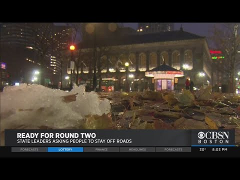 Massachusetts Prepares For Second Round Of Snow