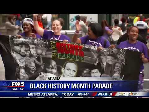 Atlantans march downtown to celebrate Black History Month