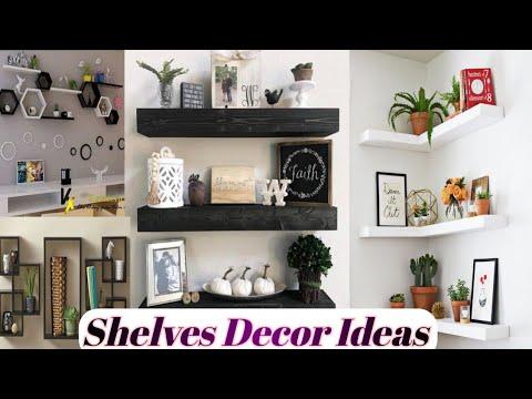 Wall Shelves Decor Idea Living Room Bedroom Shelves Decor Ideas Youtube