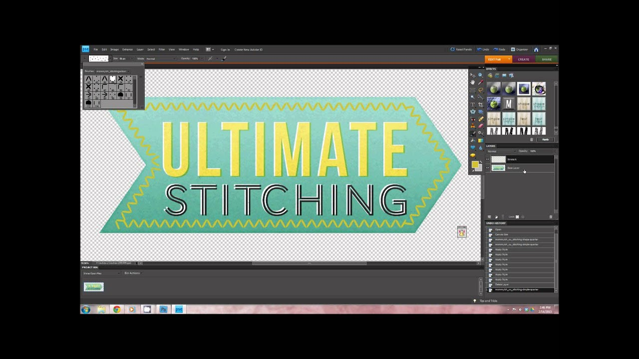 Ultimate Stitching - PSE Tutorial - Metals 2016