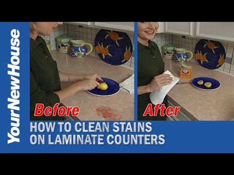 How to Remove Stains from a Laminate Countertop - Quick Tips
