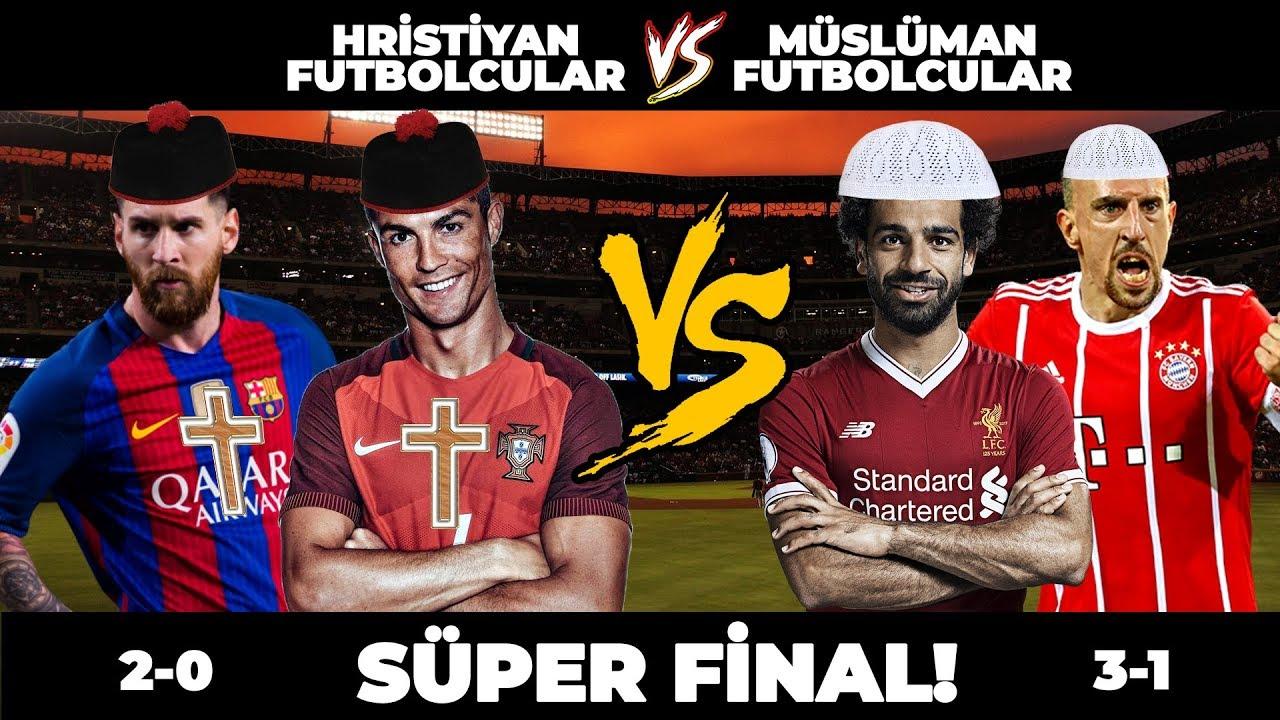 MÜSLÜMAN FUTBOLCULAR vs HRİSTİYAN FUTBOLCULAR - SÜPER FİNAL PES 2018