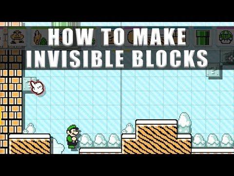 Super Mario Maker 2 how to make invisible blocks