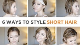 [Hair tutorial ] 6 ways to style your short hair | 6 種短髮變化造型教學 | Pieces of C主播