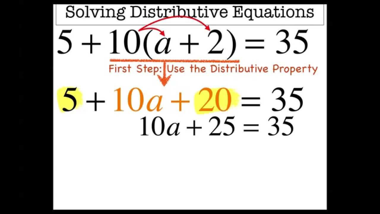 Multi-Step Equations with Parenthesis and Stuff - YouTube [ 720 x 1280 Pixel ]