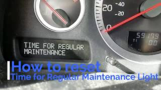DIY How to reset Time For Regular Maintenance Volvo XC90
