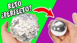 RETO Puliendo Bola de Papel de Aluminio | ¿Sera VERDAD? Manualidades aPasos