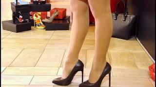 видео Туфли лодочки на шпильке и на среднем каблуке, классические