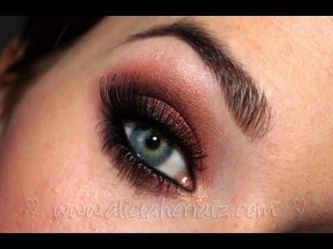 Maquillaje rojo de noche paso a paso - Ojos ahumados para principiantes ...