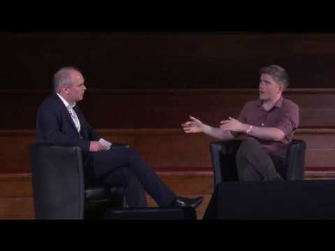 John Collison at Startup Grind London 2017 in Fireside Chat with Wall St Journal's Thorold Barker