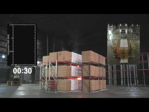 Large-scale Sprinklered Fire Test of 20 Ah Lithium-ion Polym