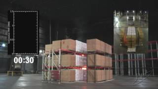Large-scale Sprinklered Fire Test of 20 Ah Lithium-ion Polymer Pouch Batteries in Warehouse Storage