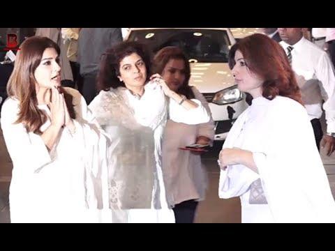 Akshay Kumar's Wife Twinkle Khanna, Raveena Tandon Arrives At Krishna Raj Kapoor Prayer Meet
