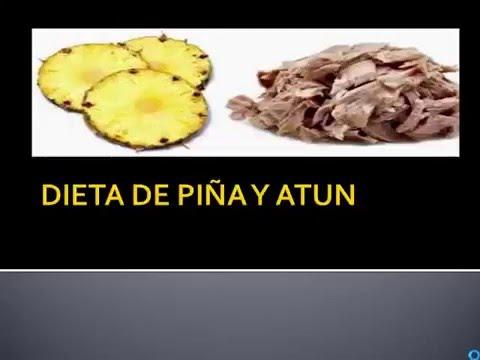 dieta de los 3 dias pina y atunes