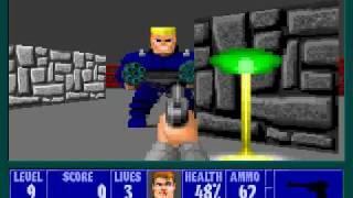 Wolfenstein 3D E1M9 - Hans Grosse - Pistol Only